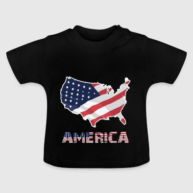Amerikanske Flag USA Independence Day - Baby T-shirt