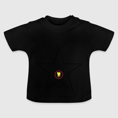 Hollywoodstern Schwarz Rot Gold - Baby T-Shirt