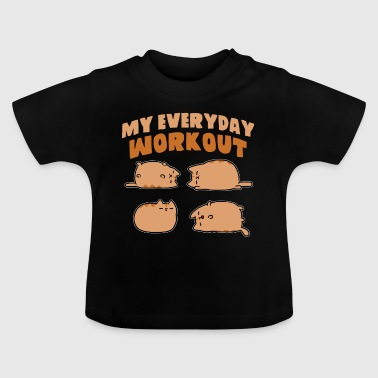 my everyday workout gym fitness cats - Baby T-Shirt