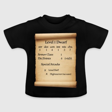 Level 1 Dwarf - Baby T-Shirt