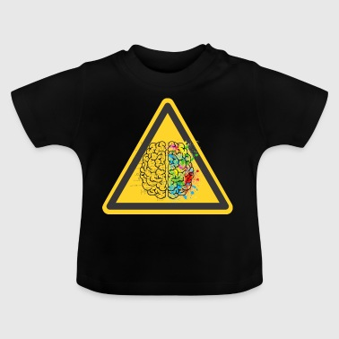 Caution creative chaotic brain - Baby T-Shirt