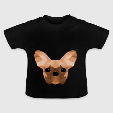 French Bulldog Low Poly Design orange - Baby T-Shirt