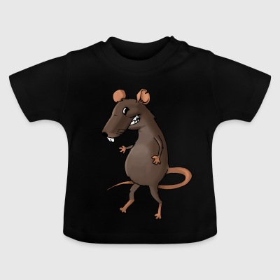 Fiese Ratte Nager Maus Ungeziefer Nagetier - Baby T-Shirt