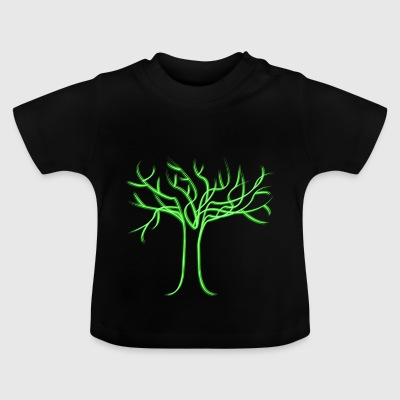 Tree of life, neon green - Baby T-Shirt