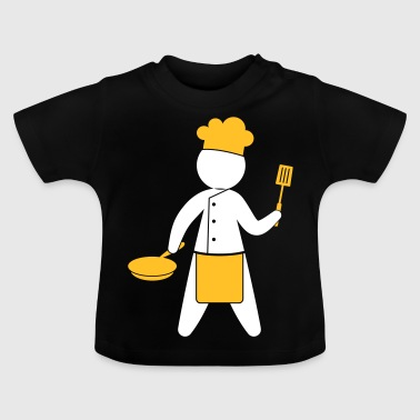 En Gourmet Chef Cooks In The Kitchen - Baby-T-shirt