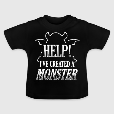 Grappig Partner Partner Look shirt Monster Help - Baby T-shirt
