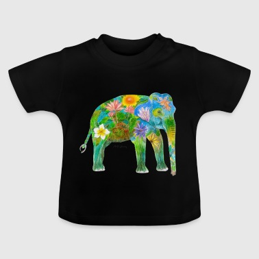 asiatisk elefant - Baby-T-shirt