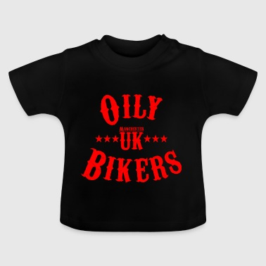 Oily Bikers Vintage - Red - Baby-T-shirt
