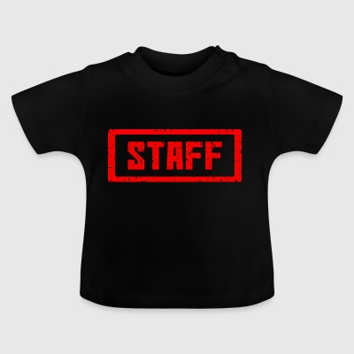 Staff stamp red - Baby T-Shirt