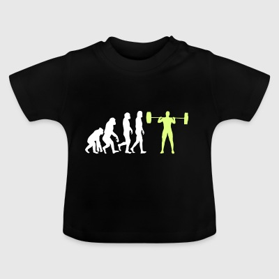 Evolution - Bodybuilder T-shirt regalo - Maglietta per neonato