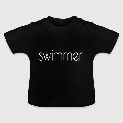 simmare text vit - Baby-T-shirt