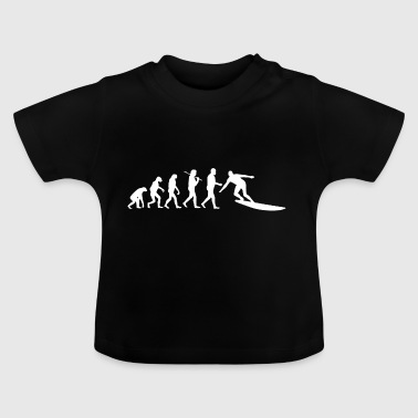 Surfer Surfing Surfboard Waving Evolution - Baby T-Shirt