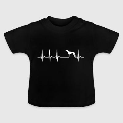 Greyhound shirt heartbeat owner dog gift - Baby T-Shirt