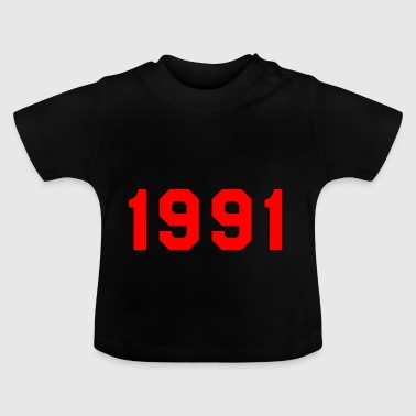 1991 birth year birthday design gift - Baby T-Shirt