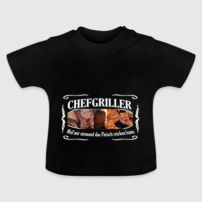 CHEFGRILLER weiss - Baby T-Shirt