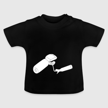 Painting roller with mouse - Baby T-Shirt
