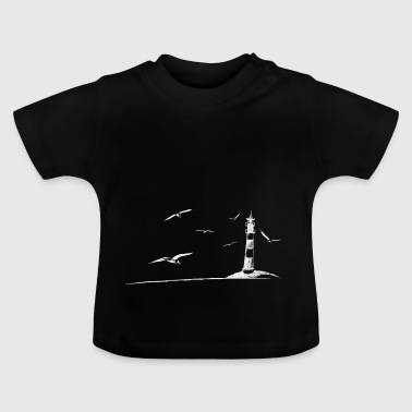 North Sea Baltic Sea lighthouse seagulls gift - Baby T-Shirt