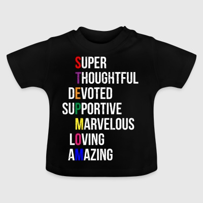 Super step mom - mother - Baby T-Shirt