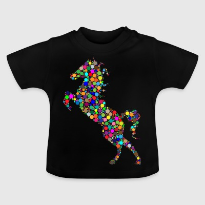 Colorful jumping horse - Baby T-Shirt