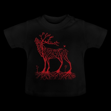 Wald-Hirsch in rot - Baby T-Shirt