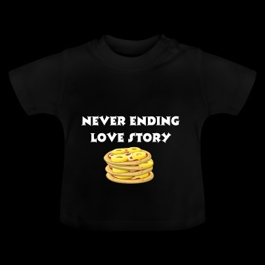 Never ending love story - pizza love story - Baby T-Shirt