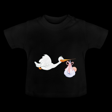 Storch mit Baby - Baby T-Shirt
