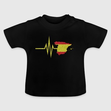 My heart beats for Spain - map spanish - Baby T-Shirt