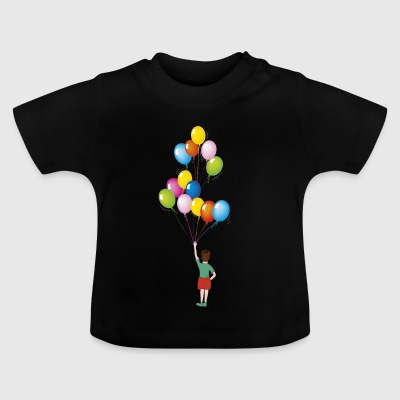 baby birthday with balloons - Baby T-Shirt