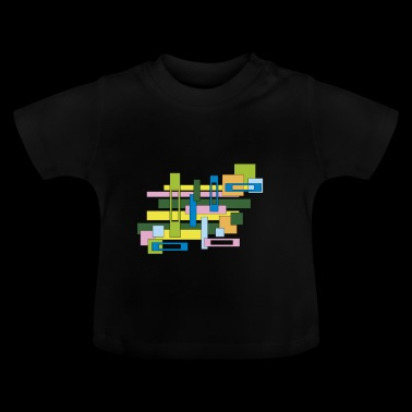 rectangles abstraits pleins et vides - T-shirt Bébé