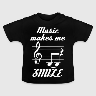 Music Make Me Smile - Baby T-shirt