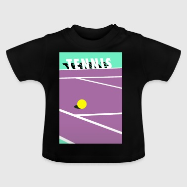 Minimalistisk Tennisbane Sports - Baby T-shirt