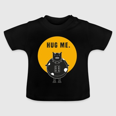 Kuh Rock / Spruch: hug me - Baby T-Shirt