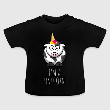 I'm a unicorn - lustige Kuh - crazy cow - Baby T-Shirt