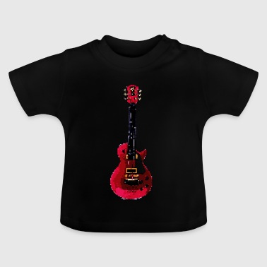 Guitar made of pixels - Baby T-Shirt