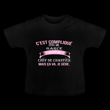Chef de chantier - T-shirt Bébé