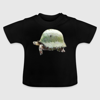 TURTLE MILITARY HELMET - Baby T-shirt
