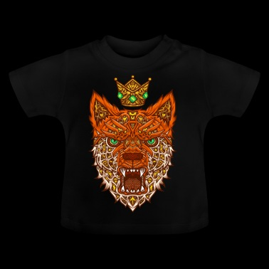 Nano fox med crown - Baby-T-skjorte