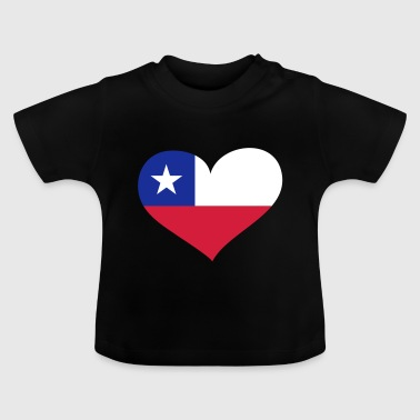 Chile Herz; Heart Chile - Baby T-Shirt
