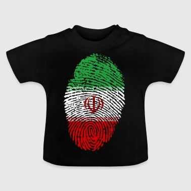 Fingerprint i love roots iran - Baby T-Shirt