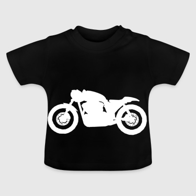 Cafe Racer V-Twin White - Baby-T-shirt