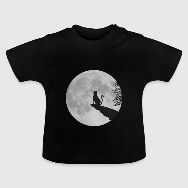 Cat moon full moon kitty cat  rock - Baby T-Shirt