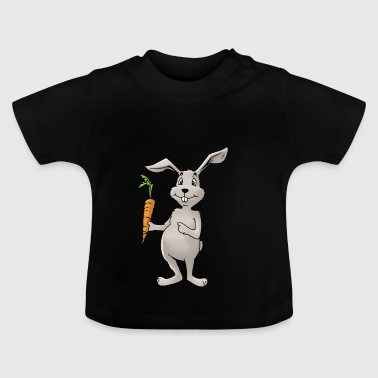 Bunny rabbit carrot Rodent Hare Rodent Hamster - Baby T-Shirt