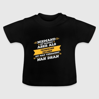 Technical draftsman profession gift - Baby T-Shirt