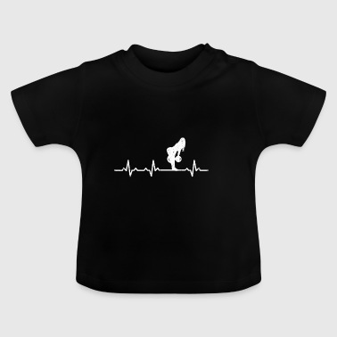 Bodybuilder krachttraining deadlift hartslag - Baby T-shirt