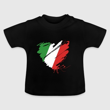 Heart Cuore Italy Italy Football - Baby T-Shirt