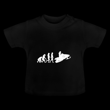 Snowmobile evolution gift snow sledge - Baby T-Shirt