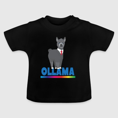 Lama Alpaka Comic Tier Trend Fun Obama Geschenk - Baby T-Shirt