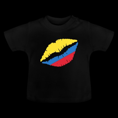 Ecuador kiss kisses flag banner gift - Baby T-Shirt