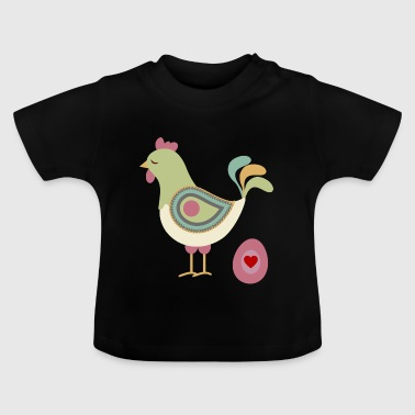 Huhn mit Osterei - Baby T-Shirt