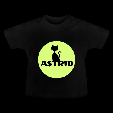 Astrid name cat full moon name day - Baby T-Shirt